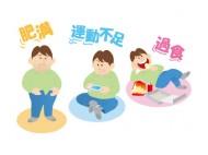 肥満・寝不足・過食する男性のイラスト