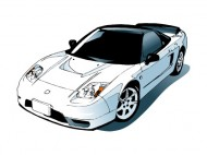 白い車のイラスト