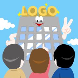 ロゴは会社の顔イラスト